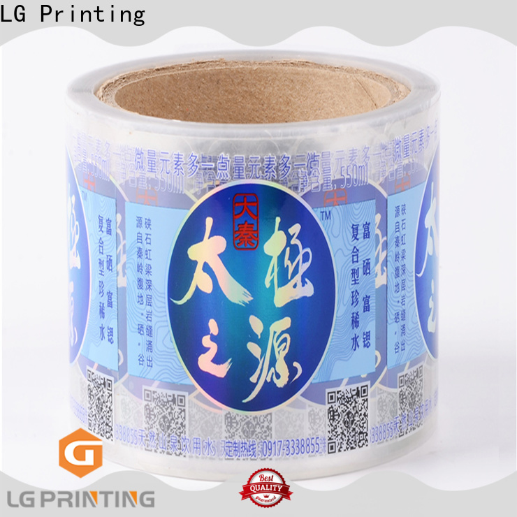 Bulk buy party water bottle labels red factory price for wine bottle