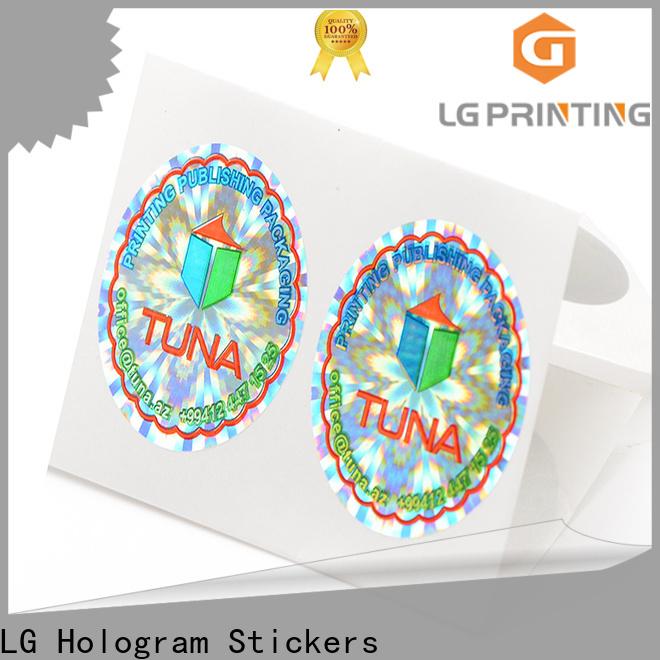 LG Printing Bulk buy tamper proof hologram stickers wholesale for garment hangtag