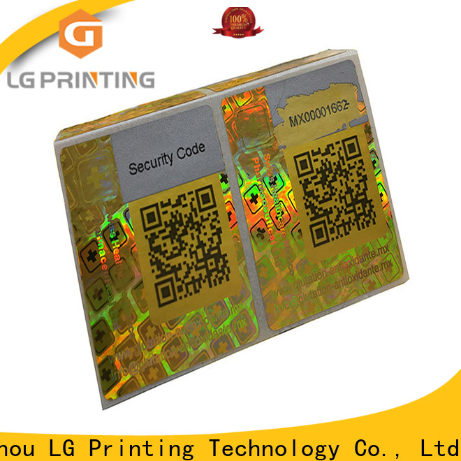 LG Printing Bulk buy hologram stickers for id cards factory for pharmaceuticals