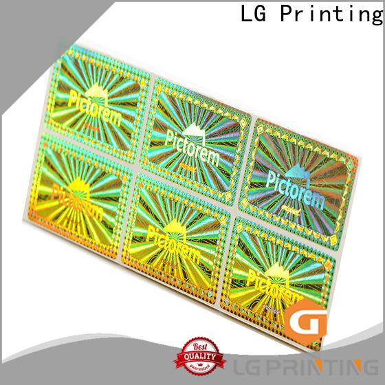LG Printing numbering custom waterproof stickers price for garment hangtag
