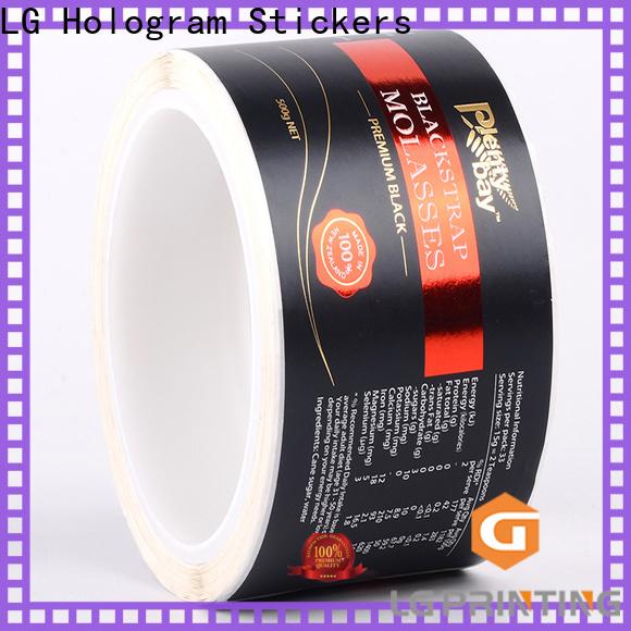 LG Printing foil best bottle labels price for jars