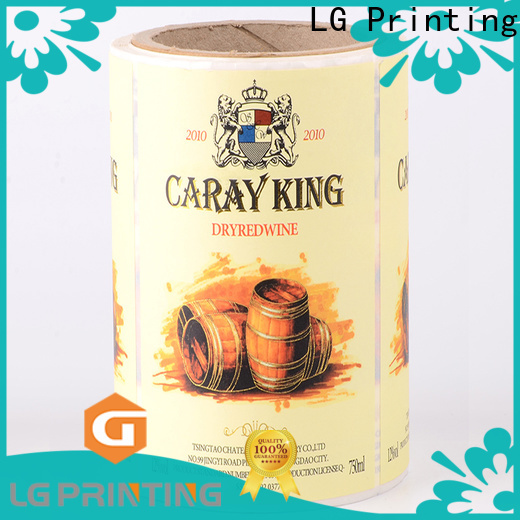 LG Printing foil vinyl labels for roller bottles wholesale for jars