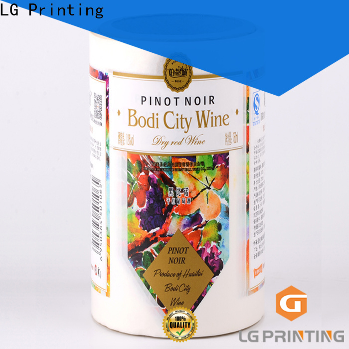 LG Printing Bulk buy adhesive label company cost for cans