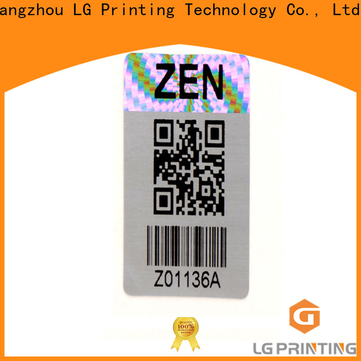 LG Printing Bulk custom made hologram stickers factory price for electronics