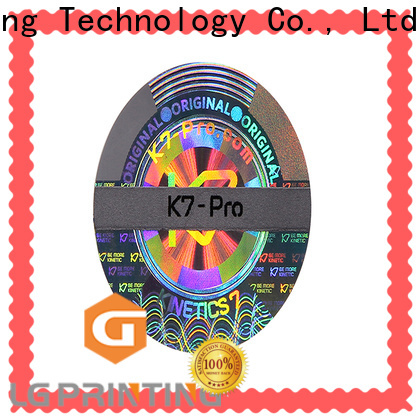 LG Printing color security void stickers cost for skin care products