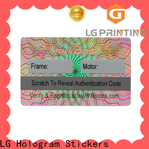 LG Printing printing silver hologram sticker manufacturers for electronics