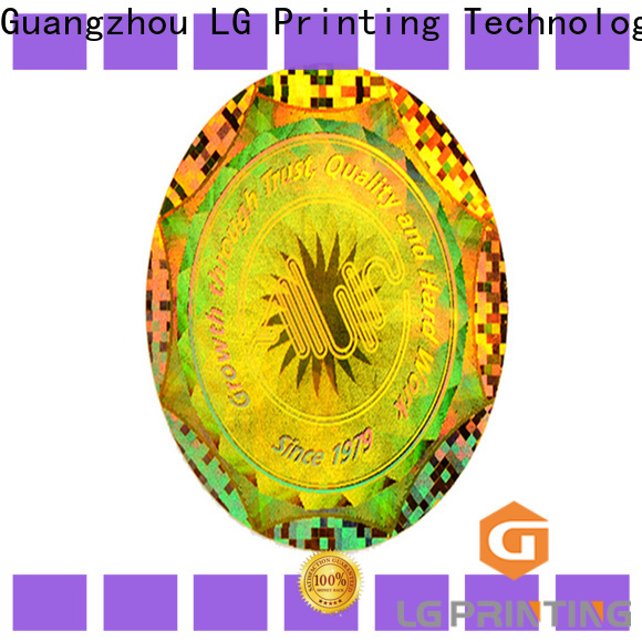 Custom made supreme hologram sticker security supply for skin care products