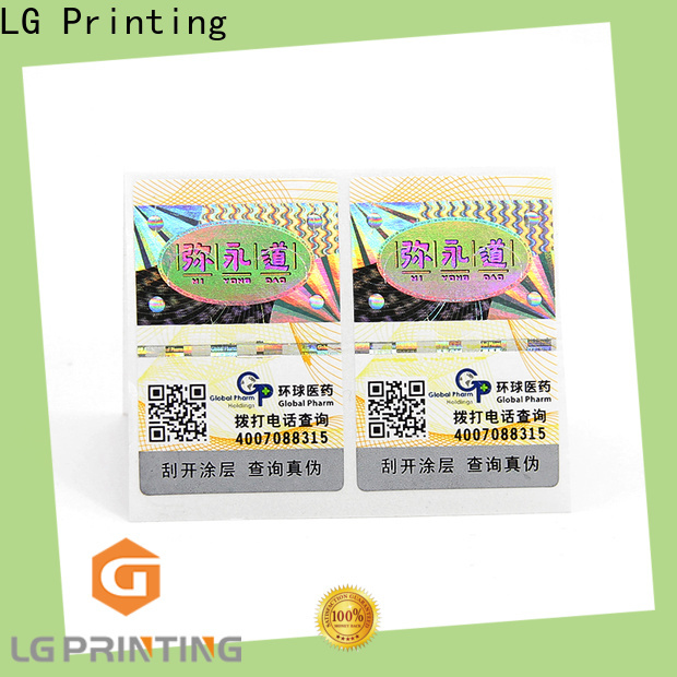 LG Printing custom holographic labels factory