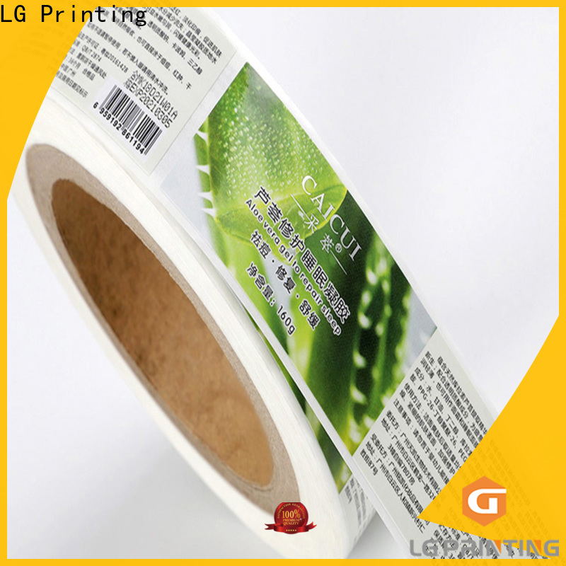 LG Printing Professional custom clear labels price for bottle