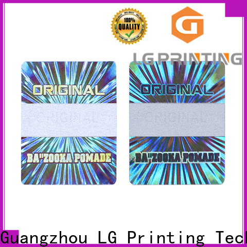 LG Printing Top holographic vinyl sticker suppliers for pharmaceuticals