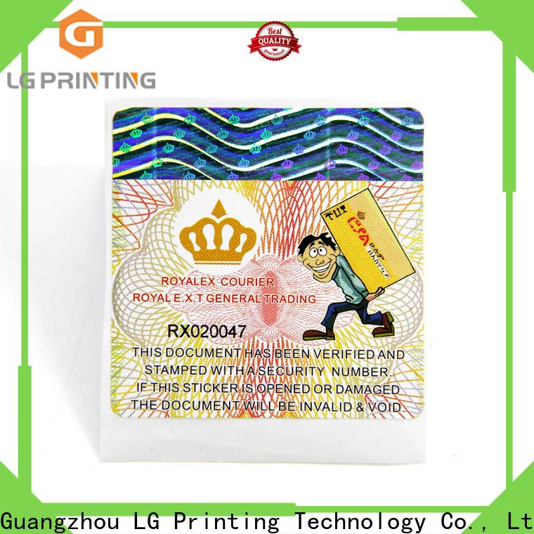 LG Printing vinyl adhesive labels vendor for goods