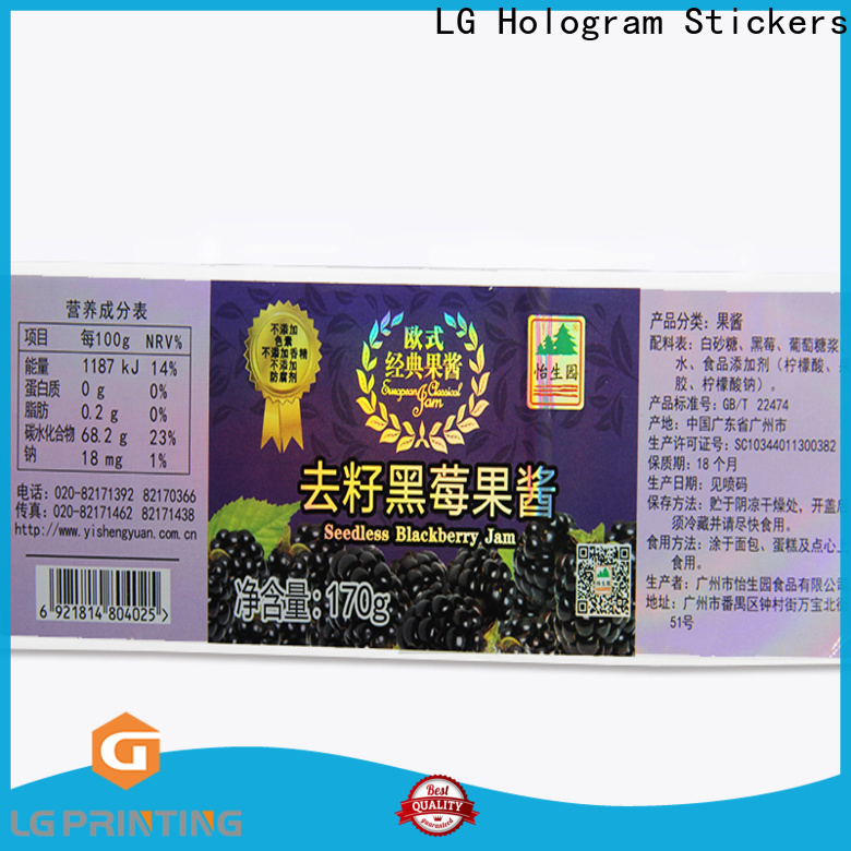 personalised holographic stickers manufacturers for package