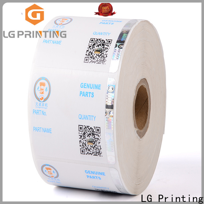 LG Printing Customized custom security hologram stickers manufacturers for products