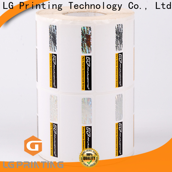 LG Printing serial hologram stamping cost for goods