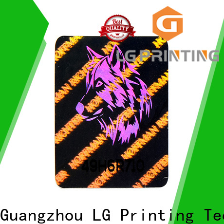 LG Printing Customized 3d hologram sticker printer manufacturers for garment hangtag