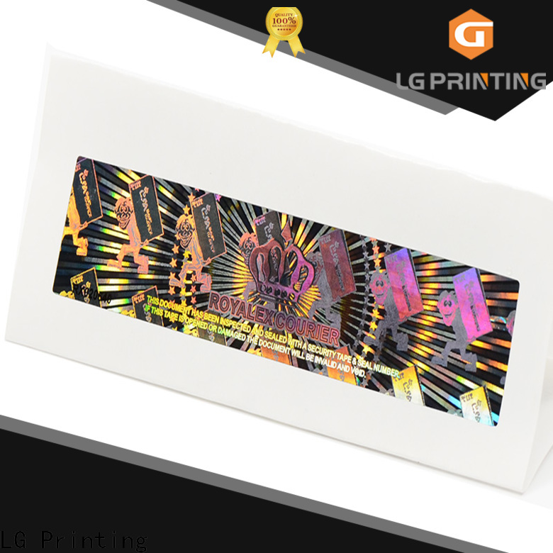LG Printing Buy clear hologram sticker company for garment hangtag