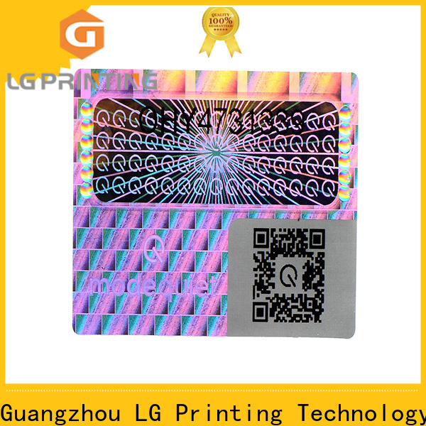 LG Printing one time hologram vinyl sticker cost for pharmaceuticals