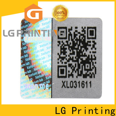 LG Printing gold security hologram manufacturers for skin care products