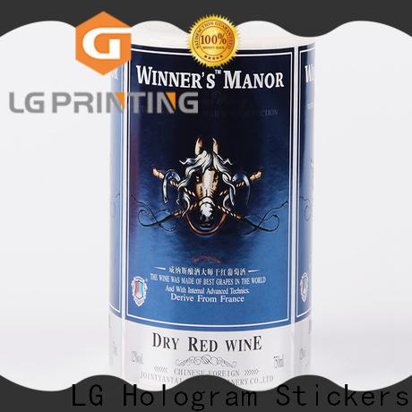 LG Printing foil custom wine labels supply for bottle