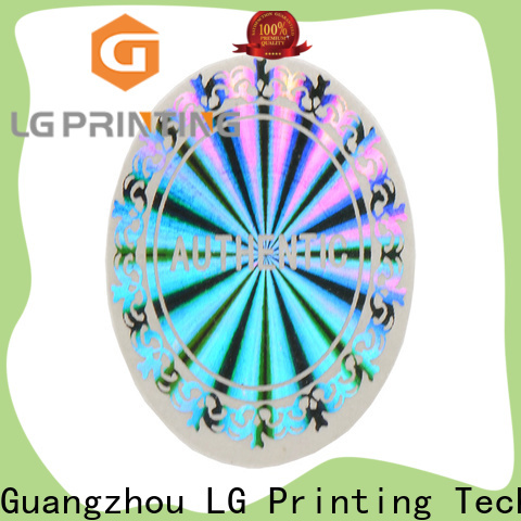 LG Printing numbering tamper proof stickers for skin care products