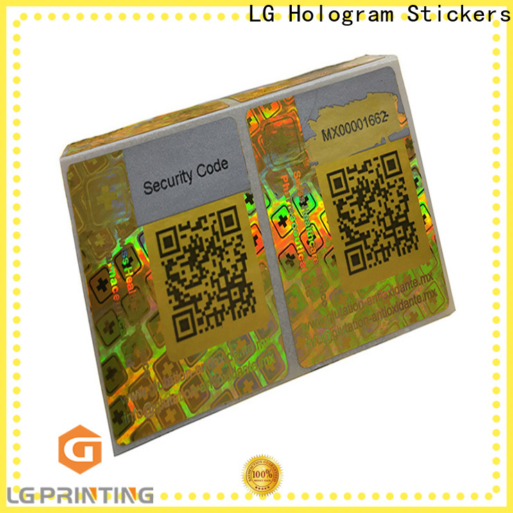LG Printing silver passport hologram sticker factory for skin care products