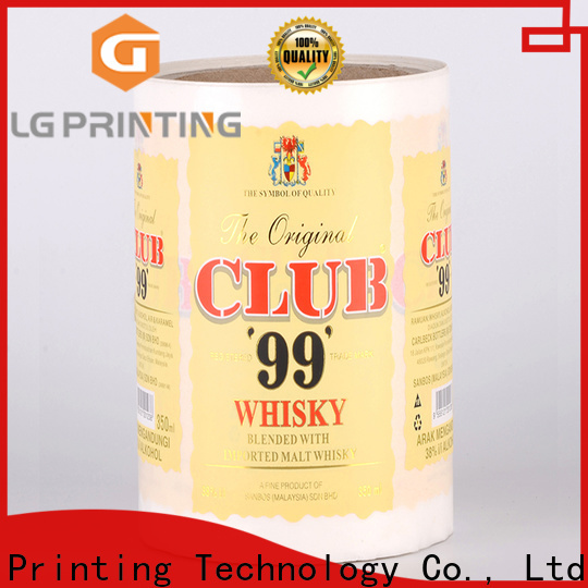 High-quality bottle sticker printing red wholesale for bottle