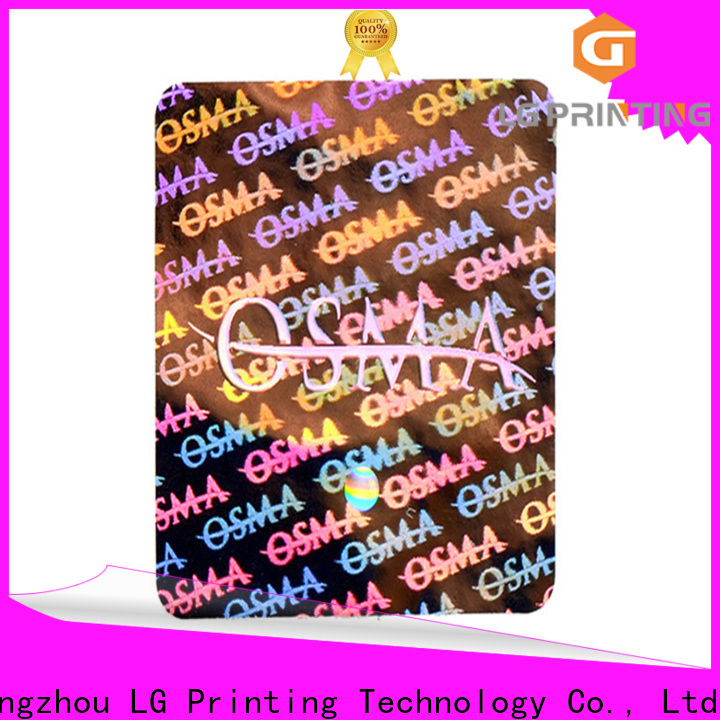 Best hologramme sticker scratch factory price for pharmaceuticals