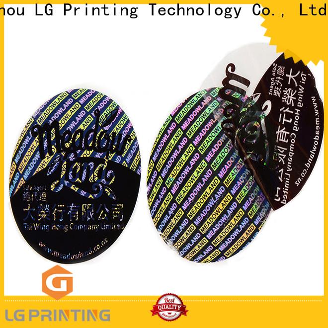 Custom sticker manufacturer china scratch price for garment hangtag