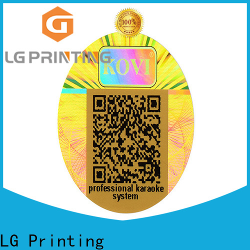 Custom made round hologram stickers gold factory for electronics
