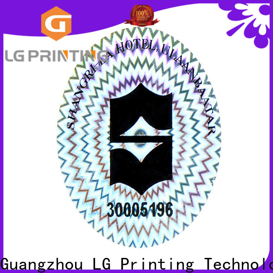 LG Printing qr genuine hologram stickers for pharmaceuticals