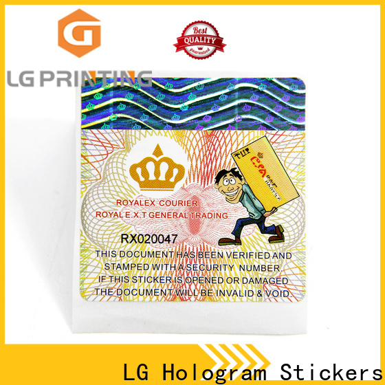 LG Printing Professional anti tamper asset labels suppliers for box