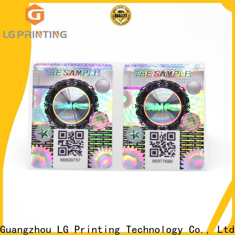 LG Printing Top printed self adhesive labels manufacturer vendor for cosmetics