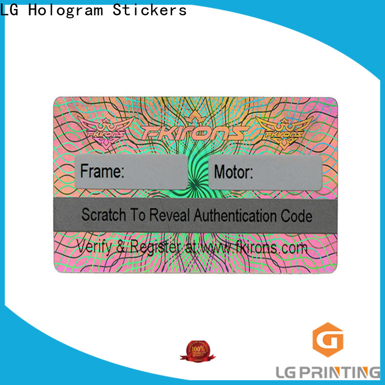 LG Printing china hologram sticker company for skin care products