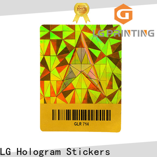 LG Printing Bulk holographic card factory for electronics