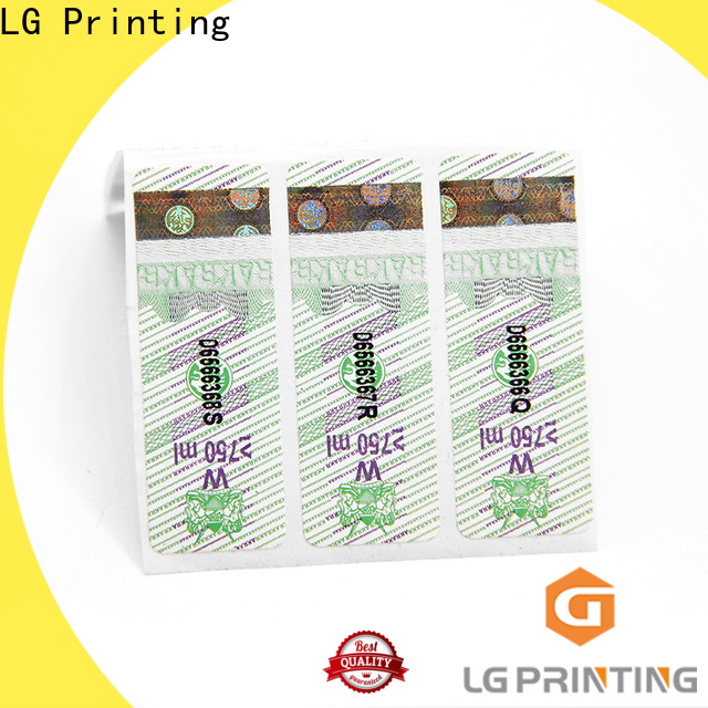 LG Printing High-quality anti counterfeit packaging factory price