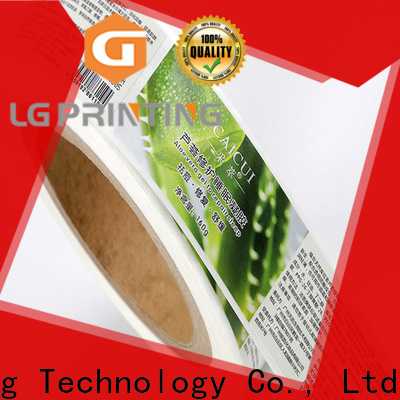 LG Printing self adhesive stickers suppliers for jars