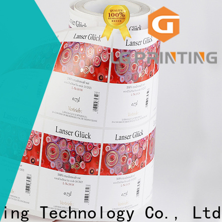 LG Printing Buy self adhesive printed labels factory for wine bottle