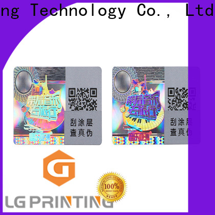LG Printing High-quality original hologram sticker wholesale for garment hangtag