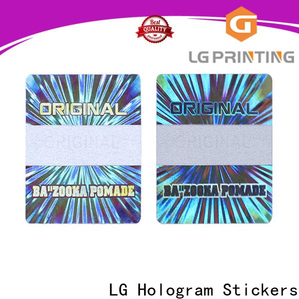 LG Printing numbering hologram sticker custom factory for pharmaceuticals