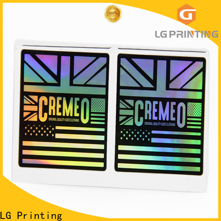 Buy cheap holographic stickers price for metal box surface