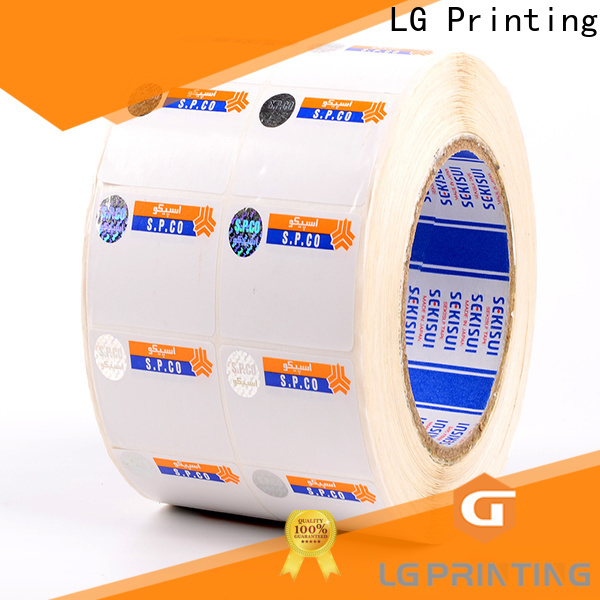 LG Printing Custom made holographic stamp vendor for products
