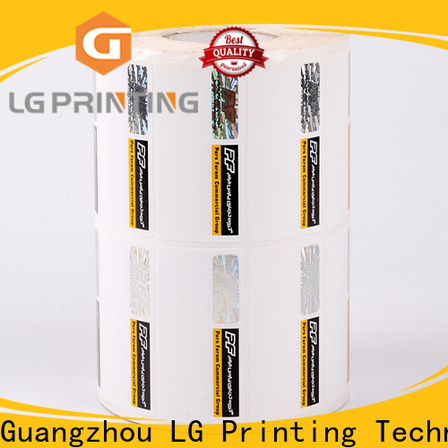 LG Printing Buy security labels stickers factory for bag