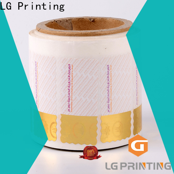 LG Printing PVC holographic labels suppliers manufacturers for goods