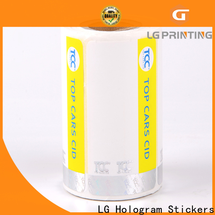 Custom printable security stickers UV company for products