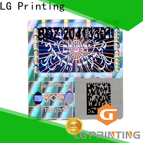 LG Printing Custom made hologram labels stickers supply for skin care products