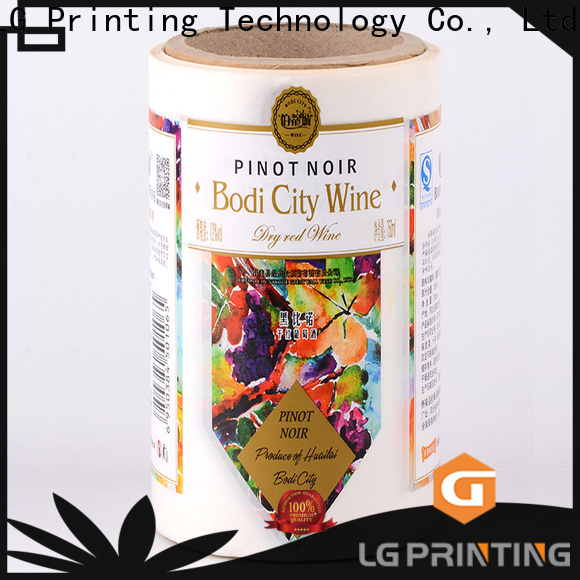 LG Printing silver self adhesive vinyl printing paper manufacturers for bottle