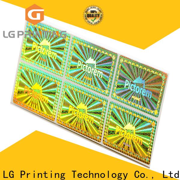 LG Printing golden design hologram sticker company for pharmaceuticals