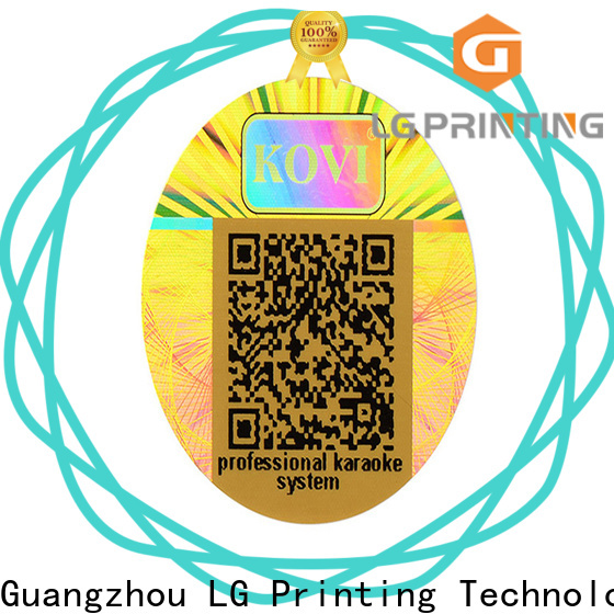 LG Printing High-quality stickers hologramme supply for garment hangtag