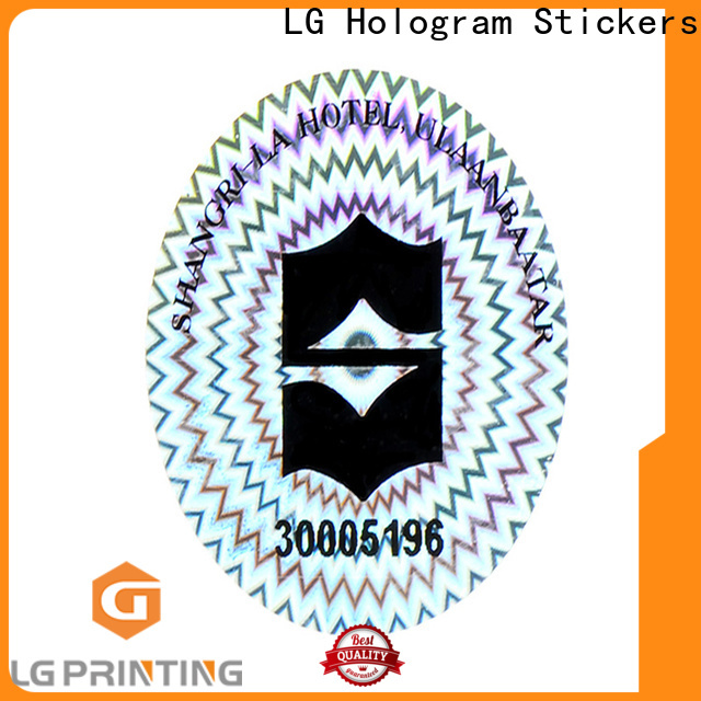 LG Printing Quality holographic label maker price for electronics