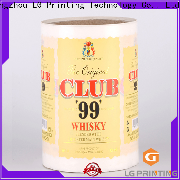 LG Printing Customized special labels for bottles wholesale for bottle